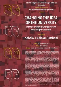 Changing the Idea of the University - The Grammars of Change in South African Higher Education