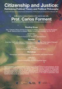 Carlos Forment is Associate Professor of Sociology at the New School for Social Research.